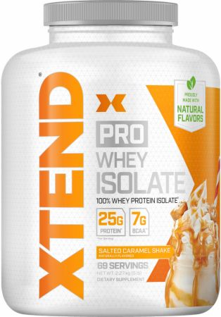 Image of Pro Whey Protein Isolate Salted Caramel Shake 5 Lbs. - Protein Powder Xtend