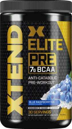 Image of Xtend Elite Pre Workout Blue Raspberry Ice 30 Servings - Pre-Workout Xtend