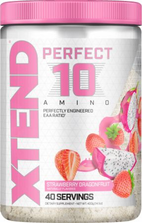 Image of Xtend Perfect 10 Amino Powder Strawberry Dragon Fusion 40 Servings - Amino Acids & BCAAs Xtend