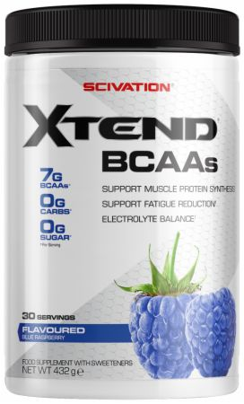 Image of Xtend BCAA Powder Blue Raspberry 30 Servings - During Workout XTEND