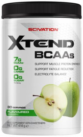 Image of Xtend BCAA Powder Green Apple 30 Servings - During Workout XTEND