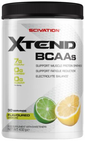 Image of Xtend BCAA Powder Lemon Lime 30 Servings - During Workout XTEND