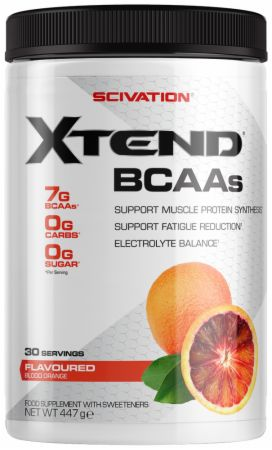 Image of Xtend BCAA Powder Blood Orange 30 Servings - During Workout XTEND