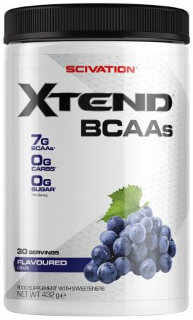 Image of Xtend BCAA Powder Grape 30 Servings - During Workout XTEND