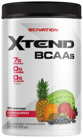 Image of Xtend BCAA Powder Fruit Punch 30 Servings - During Workout XTEND