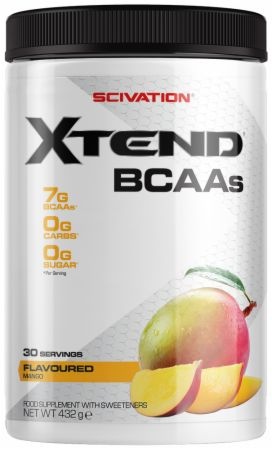 Image of Xtend BCAA Powder Mango 30 Servings - During Workout XTEND
