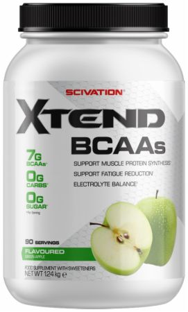 Image of Xtend BCAA Powder Green Apple 90 Servings - During Workout XTEND