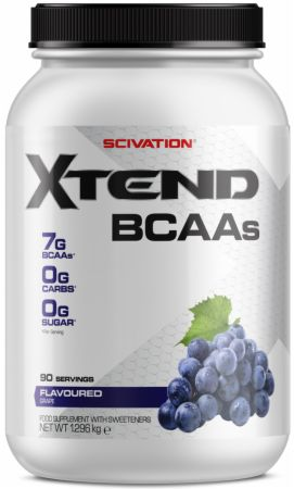 Image of Xtend BCAA Powder Grape 90 Servings - During Workout XTEND