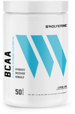 Image of BCAA 2:1:1 + Electrolytes Lemon Lime 50 Servings - Amino Acids & BCAAs Swolverine