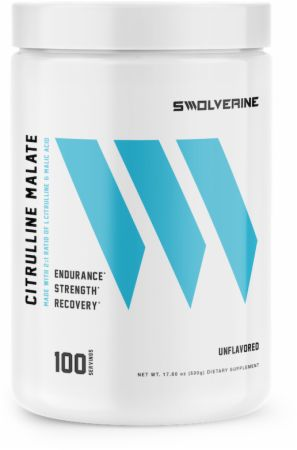 Image of Citrulline Malate Unflavored 100 Servings - Nitric Oxide Boosters Swolverine
