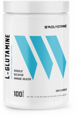 Image of L-Glutamine Unflavored 100 Servings - Post-Workout Recovery Swolverine