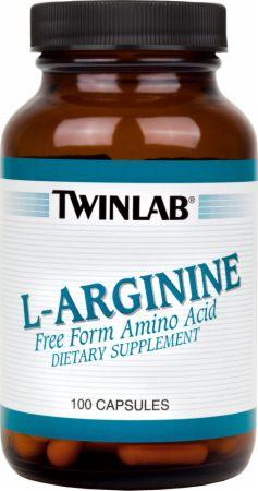 Twinlab L-Arginine. 500mg/100 Capsules