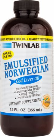Twinlab Emulsified Norwegian Cod Liver Oil Liquid