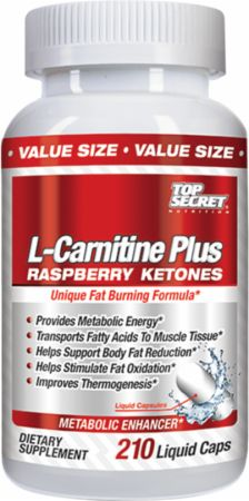 Top Secret Nutrition L-Carnitine Plus Raspberry Ketones