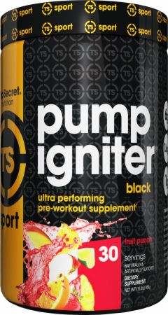 Image of Pump Igniter Black Fruit Punch 30 Servings - Pre-Workout Top Secret Nutrition