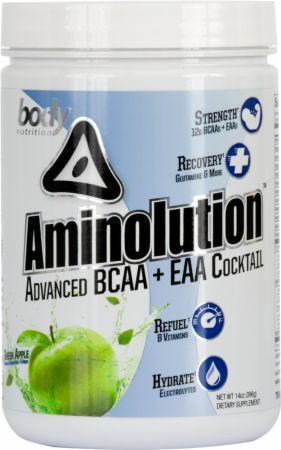 Image of Body Nutrition Aminolution 14 Oz. Green Apple