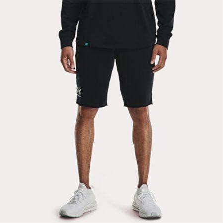 Image of Men's UA Rival Terry Shorts Black Large - Men's Shorts Under Armour