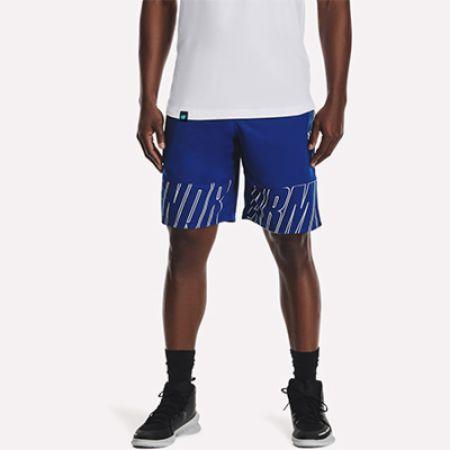 Image of Men's UA Baseline Speed 10' Shorts Royal Large - Men's Shorts Under Armour