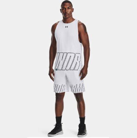 Image of Men's UA Baseline Speed 10' Shorts White Large - Men's Shorts Under Armour