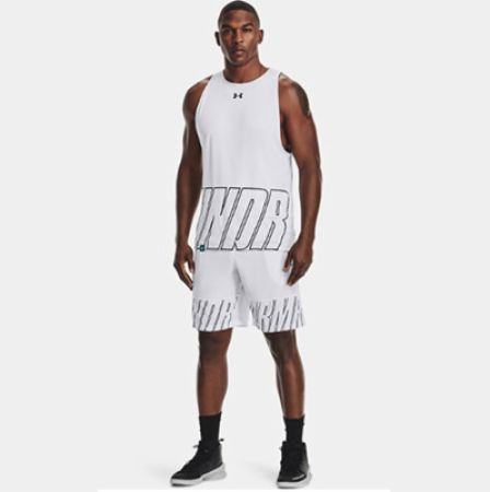 Image of Men's UA Baseline Speed 10' Shorts White XL - Men's Shorts Under Armour