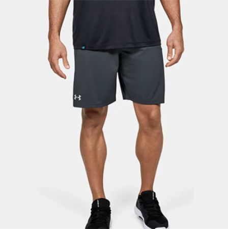 Image of Men's UA Locker 9' Pocketed Shorts Stealth Gray Large - Men's Shorts Under Armour