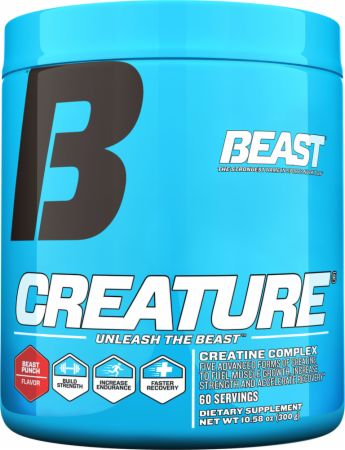 Image of Creature Powder Beast Punch 60 Servings - Creatine Beast Sports Nutrition