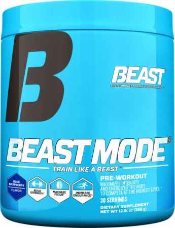 Beast Sports Nutrition Beast Mode Blue Raspberry 30 Servings -...