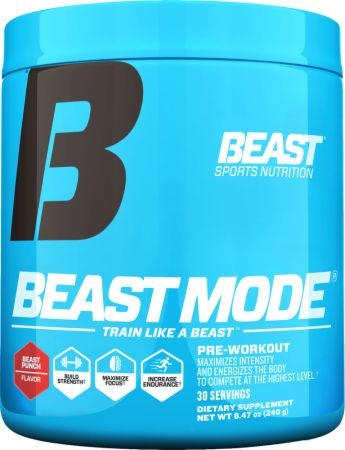 Beast Sports Nutrition Beast Mode Beast Punch 30 Servings - Pre-Workout Supplements