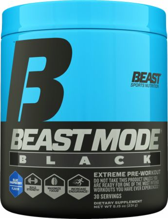 Beast Mode Black Blue Raspberry 30 Servings - Pre-Workout Supplements Beast Sports Nutrition