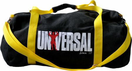 Signature Series Vintage Gym Bag Black & Yellow  - Gym Bags Universal Nutrition