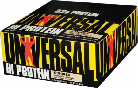 Universal Nutrition Hi Protein Bars S'mores 16 - 85g Bars - Protein Bars