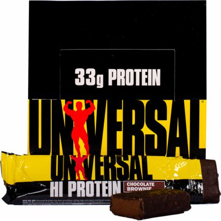 Universal Nutrition Hi Protein Bars Chocolate Brownie 16 - 85g Bars - Protein Bars