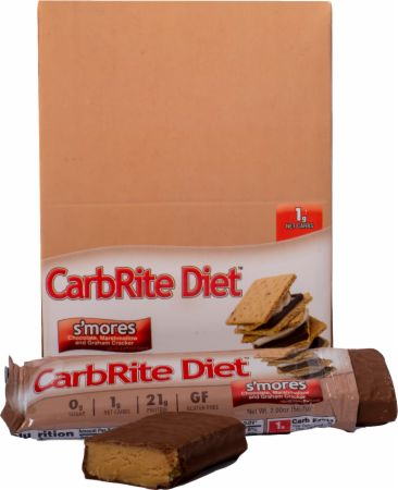 Universal Nutrition Doctor's CarbRite Diet Bars S'mores 12 Bars - Protein Bars