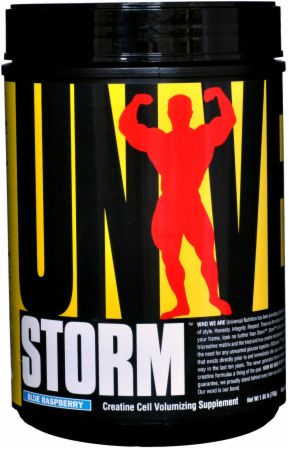 Universal Nutrition Storm Blue Raspberry 80 Servings - Pre-Workout Supplements