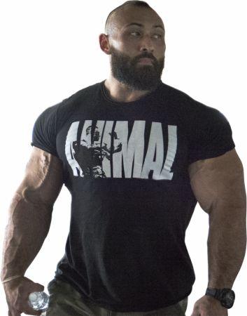 Animal Iconic T-Shirt Black/White Large - Men's T-Shirts Animal