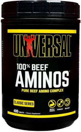 Image of 100% Beef Aminos 400 Tablets - Amino Acids & BCAAs Universal Nutrition