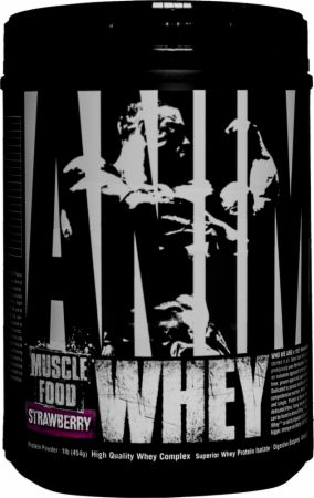 Universal Nutrition Animal Whey Strawberry 1 Lb. - Protein Powder