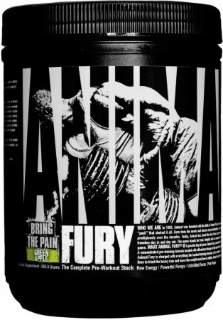 Image of Animal Fury Green Apple 20 Servings - Pre-Workout Animal