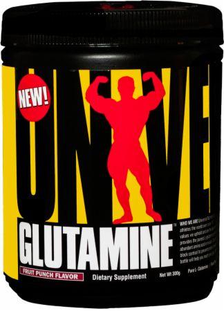 Universal Nutrition Glutamine Fruit Punch 300 Grams - Amino Acids & BCAAs