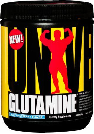 Universal Nutrition Glutamine Blue Raspberry 300 Grams - Amino Acids & BCAAs