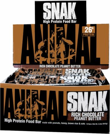 Universal Nutrition Animal Snak Bar Rich Chocolate Peanut Butter 12 Bars - Protein Bars
