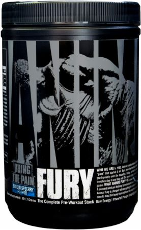 Image of Animal Fury Blue Raspberry 30 Servings - Pre-Workout Animal