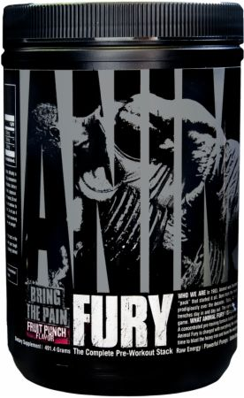 Image of Animal Fury Fruit Punch 30 Servings - Pre-Workout Animal