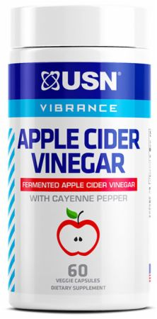 Image of Vibrance Apple Cider Vinegar with Cayenne Pepper Unflavored 60 Capsules (60 Servings) - Vitamins, Herbs & Health USN