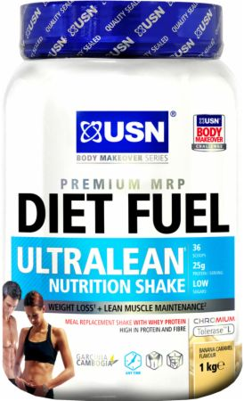 Image of USN Diet Fuel Ultralean 1 Kilogram Banana Caramel