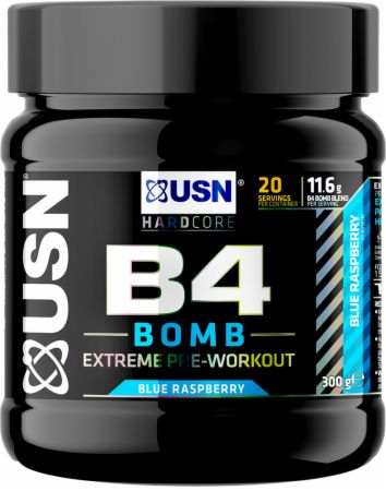 Image of B4 Bomb Blue Raspberry 300 Grams - Pre-Workout Supplements USN