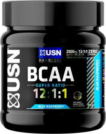 Image of BCAA 12:1:1 Blue Raspberry 30 Servings - Amino Acids & BCAAs USN