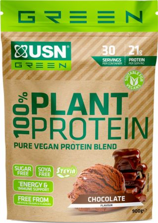 Image of 100% Plant Protein Chocolate 900 Grams - Protein Powder USN
