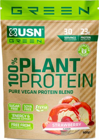 Image of 100% Plant Protein Strawberry 900 Grams - Protein Powder USN