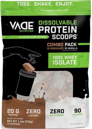 100% Whey Isolate Dissolvable Protein Scoops